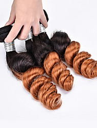 3 Pieces Loose Wave Human Hair Weaves Brazilian Texture Human Hair Weaves Loose Wave