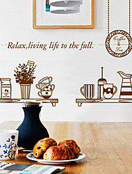 DIY Dining Room Background Wall Sticker Plane Wall Stickers PVC Home Decor