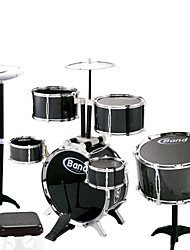 Wood Black Jazz Drum for Children Above 3 Musical Instruments Toy