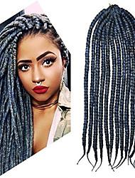 12-24 inch Crochet Braid Havana Mambo Afro Twist Hair Extension Dark Grey with Crochet Hook