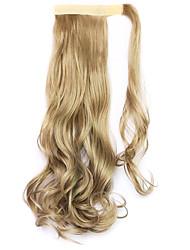 dourado comprimento 45 centímetros a nova velcro peruca de rabo de cavalo (cor marrom claro)