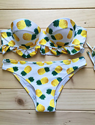 Womens Cute Pineapple Push Up Bikini
