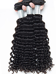 "3pcs/Lot 8""-30"" Brazilian Virgin Hair Natural Black Natural Wave Human Hair Extensions Hair Weaves Bundles Thick & Soft"