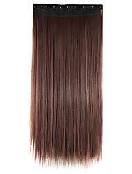 cabelos lisos extensão do cabelo sintético peruca 60 centímetros vinho tinto comprimento do fio de alta temperatura