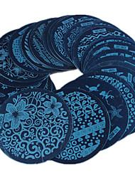 Nail изображение искусства Стампер серии 30pcs ом смеси конструкции поделки лак для ногтей