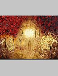 grande pintura pintados à mão moderna paisagem árvore óleo sobre tela, um painel com moldura pronto para pendurar 90x140cm