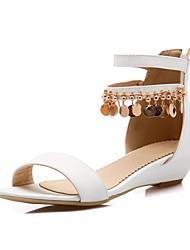 Белый / Серебристый / Золотистый-Женская обувь-Свадьба / Для вечеринки / ужина / Для праздника / На каждый день-Материал на заказ клиента-