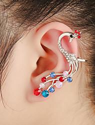 unisex de moda oro / plata del pavo real de la oreja puños pendientes de la joyería (1 PC, 10g)