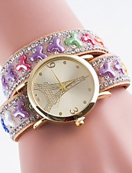 Ladies' Casual Watch Gold Diamond Dial Bracelet Watch Bracelet Watch Quartz Watch Dial Eiffel Tower