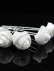 Hot Cloth Art Flower Hair Accessories The Bride Hair White Roses Hairpin Photo Tire 10pcs