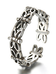 Antique Silver Vintage Style Butterfly Open Band Midi Ring for Men/Women Jewelry