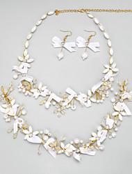 Conjunto de jóias Mulheres / Crianças Casamento / Noivado Conjuntos de Joalharia Imitação de Pérola / Liga / Strass Imitação de Pérola