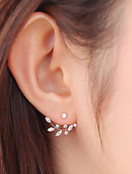 Earring Leaf Stud Earrings Jewelry Women Fashion Daily / Casual Alloy 1 pair Gold / Silver