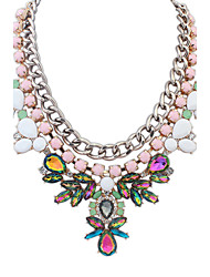 Necklace Pendant Necklaces / Collar Necklaces Jewelry Party / Daily / Casual Alloy / Acrylic / Resin / Rhinestone Pink 1pc Gift