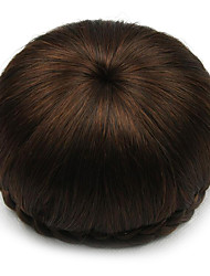 Kinky вьющиеся каштановые европы невесты человеческих волос монолитным парики chignonssp-002 2009