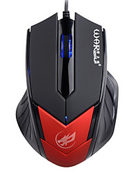 War Wolf 3D Wired Gaming Mouse 1000dpi Backlit Breathing Light Mice for LOL/CF/DOTA Black/Red/Blue