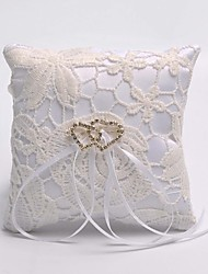 Double Heart Hollow Flower Ring Pillow