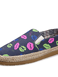 Men's Spring Summer Fall Winter Comfort Fabric Casual Flat Heel Blue