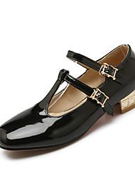Women's Shoes Low Heel Heels / Square Toe Heels Dress / Casual Black / Pink / Beige