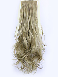 Flaxen Length 50CM Factory Direct Sale Bind Type Curl Horsetail Hair Ponytail(Color 16)