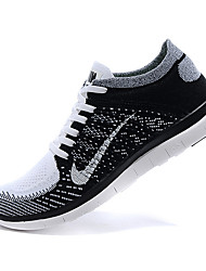 Nike Free 4.0 RN Flyknit Round Toe / Sneakers / Running Shoes / Casual Shoes Men's Wearproof Green / Black / OrangeRunning/Jogging /