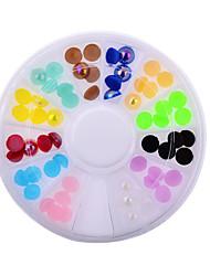 mulheres moda colorido unha arte strass decoração para o telefone portátil ferramentas diy unhas de gel uv