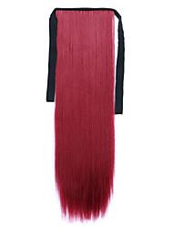 longue prêle perruque de cheveux raides rouge longueur 60cm type de liaison synthétique (couleur 118c)