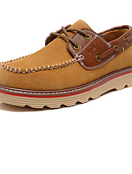 Men's Shoes Outdoor / Athletic / Casual Suede Boat Shoes Blue / Brown / Burgundy