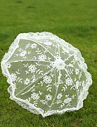 White Lace Wedding Unmbrellas for Bridal Parasols(42cm)