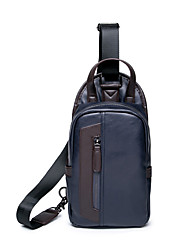 Men-Formal / Sports / Casual / Outdoor / Office & Career / Shopping-PU / Poly urethane-Cross Body Bag-Blue / Black