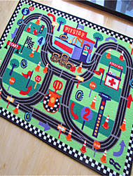 """Casual Style Coral Velvet Material Mini Autodrome Puzzle Games Mat for Children W31"""" x L47"""""""