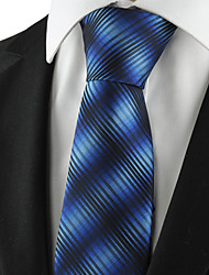 KissTies Men's Striped Gradual Color Tie Suits Necktie Wedding Party Holiday Business With Gift Box (2 Colors Available)