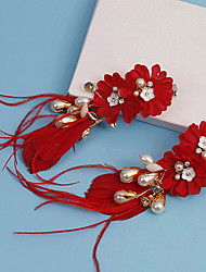 Mulheres Tecido Capacete-Casamento / Ocasião Especial Flores / Clip para o Cabelo 2 Peças