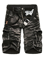 New 2016 Brand Men's Casual Camouflage Loose Cargo Shortsmen Large Size Multi-Pocket Military Short Pants Overalls