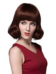 menschliche reine remy Hand gebunden Oberdeckellosen Haar Perücke der hübschen Frau