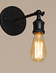 Retro Industrial Style Country Metal Wall Lights Restaurant Cafe Bars Bar Table  Black Wall Sconces Send 1 Bulb