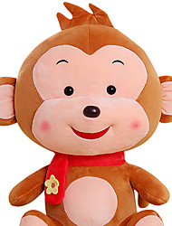 Fubao mono mono mascota del zodiaco del mono de marionetas muñeca juguetes de peluche de seguridad de 60 cm de color caqui
