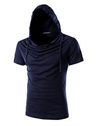 Herren Freizeit / Übergröße T-shirt - Einfarbig Kurz Baumwolle / Elasthan
