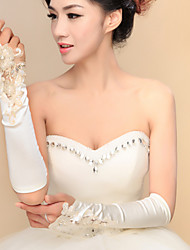 Elbow Length Fingerless / Fingertips Glove Satin / Elastic Satin Bridal Gloves / Party/ Evening Gloves Spring / Summer / Fall / Winter