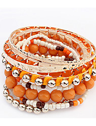 Bracelet/Bangles Alloy / Acrylic Party / Daily / Casual Jewelry Gift Beige / Black / Blue / Orange / Pink,1pc