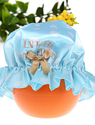 Cute Women  Shower Cap Bath Shower Reusable Clear  Hair Cover Spa Salon Care