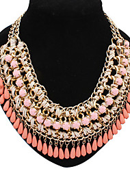 Female Fashion Full Colors Resin Necklace Collar Necklaces Fine Jewelry