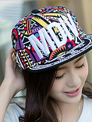 Unisex Cotton Totem Color Stitching Letter Embroidery  Baseball Hip-hop Hat