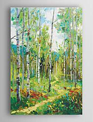 ручная роспись маслом пейзаж весна абстрактные деревья с пути с растянутыми кадр 7 стены arts®