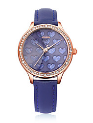 Julius® New Arrival  Women Watch Special Heart-shaped Design Waterproof Leather Belt Watch JA-851 Cool Watches Unique Watches