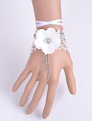 Hochzeitsblumen Mit Hand gebunden Rosen Armbandblume Hochzeit Partei / Abend Satin Spitzen