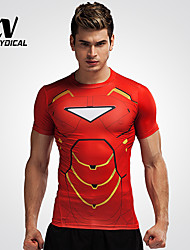 Men's Running Tops Running Breathable Iron Man Running Gym Fitness Tights Men Clothes