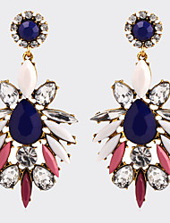 National Bohemian Style Multi-colored Gemstone Crystal Personality Earrings