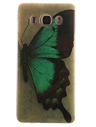 Für Samsung Galaxy Hülle IMD Hülle Rückseitenabdeckung Hülle Schmetterling Weich TPUTrend 3 / J7 (2016) / J5 (2016) / J5 / J1 (2016) / J1