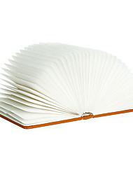 USB recargable páginas plegables plegables de madera creativos llevaron libro forma booklight portátil